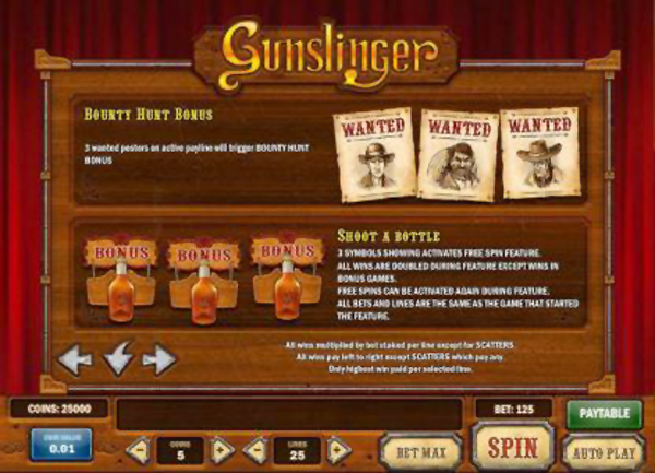 Gunslinger bottle shooting