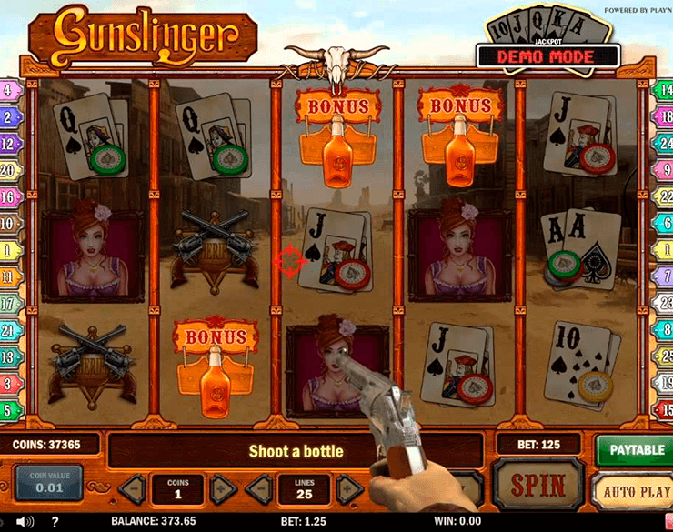 Gunslinger online slot machine